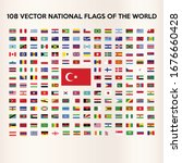 the flags of all countries of... | Shutterstock .eps vector #1676660428