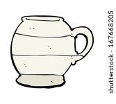 cartoon old style mug | Shutterstock .eps vector #167668205
