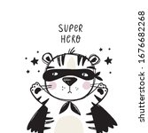 cute super hero character... | Shutterstock .eps vector #1676682268