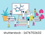 lab research line art and... | Shutterstock .eps vector #1676702632