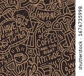 coffee hand drawn doodle... | Shutterstock .eps vector #1676735998