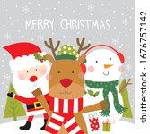reinder   santa and snowman...