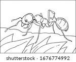 vector illustration of black... | Shutterstock .eps vector #1676774992