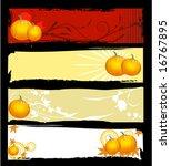 a set of halloween banners   Shutterstock .eps vector #16767895