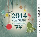 new year holiday card | Shutterstock .eps vector #167679116