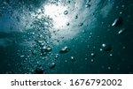 air bubbles underwater  natural ... | Shutterstock . vector #1676792002