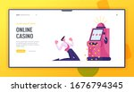 man gambler addiction  one...   Shutterstock .eps vector #1676794345