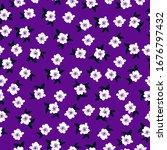 Simple Vintage Pattern. Purple...