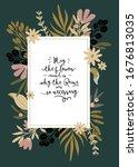 hello spring. botanical set... | Shutterstock .eps vector #1676813035