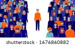 group of people wearing... | Shutterstock .eps vector #1676860882