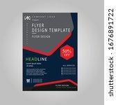 creative dark blue  light red... | Shutterstock .eps vector #1676891722