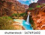 havasu falls  waterfalls in the ... | Shutterstock . vector #167691602