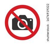no photo camera vector sign...   Shutterstock .eps vector #1676919322