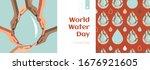 world water day vector concept... | Shutterstock .eps vector #1676921605