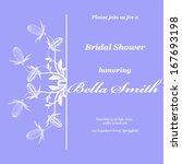 wedding or invitation card....   Shutterstock .eps vector #167693198