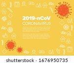 vector flyer template with... | Shutterstock .eps vector #1676950735