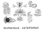 collection of mystical and...   Shutterstock .eps vector #1676954965