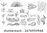 collection of mystical and... | Shutterstock .eps vector #1676954968