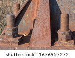Fragment Of A Rusty Metal High...