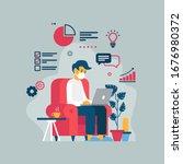 vector illustration of a man...   Shutterstock .eps vector #1676980372