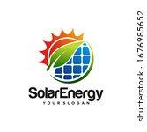 creative solar energy logo...   Shutterstock .eps vector #1676985652