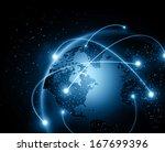 best internet concept of global ... | Shutterstock . vector #167699396