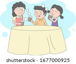 illustration of dad and son... | Shutterstock .eps vector #1677000925