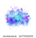 multicolored splash watercolor... | Shutterstock .eps vector #1677010255
