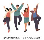 happy group of business people... | Shutterstock .eps vector #1677022105