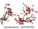 the theme of nature chinese... | Shutterstock . vector #167702705