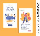 apps landing fashion... | Shutterstock .eps vector #1677073348