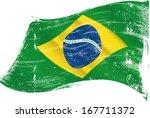 brazilian flag grunge | Shutterstock .eps vector #167711372