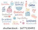 coronavirus covid 19 letterings ... | Shutterstock .eps vector #1677133492