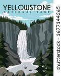yellowstone vector illustration ... | Shutterstock .eps vector #1677144265