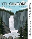 yellowstone vector illustration ... | Shutterstock .eps vector #1677144265