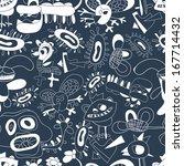 children's drawings. vector...   Shutterstock .eps vector #167714432