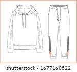 sweatshirt  sweatpants fashion... | Shutterstock .eps vector #1677160522