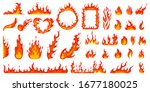 cartoon campfire. fire flames ... | Shutterstock .eps vector #1677180025