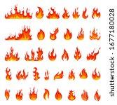 Cartoon Flame. Fire Fireball ...