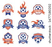 soccer club emblem. football... | Shutterstock .eps vector #1677180202