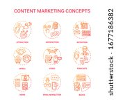 content marketing concept icons ...   Shutterstock .eps vector #1677186382