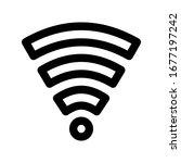 wifi icon set. vector graphic...