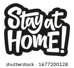 stay at home. coronavirus covid ... | Shutterstock .eps vector #1677200128