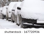 Snow Covered Cars After Snowfall