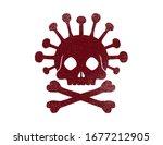 virus epidemic pandemic skull... | Shutterstock .eps vector #1677212905
