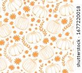 Pumpkin Vector Seamless Patter...