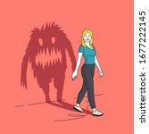 the monster inside you. a... | Shutterstock .eps vector #1677222145