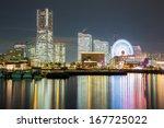yokohama skyline building and... | Shutterstock . vector #167725022