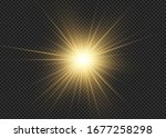 light flare special effect with ... | Shutterstock .eps vector #1677258298