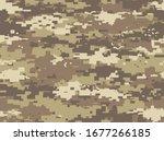 desert camouflage of pixels...   Shutterstock .eps vector #1677266185